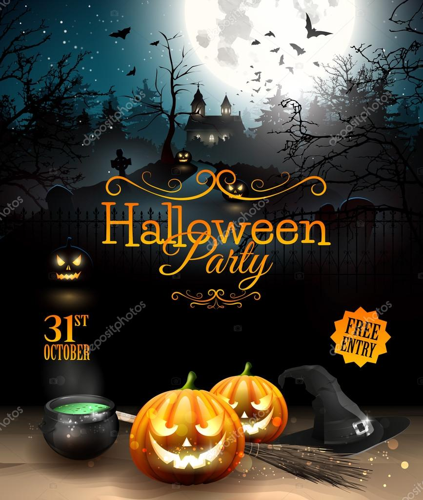 halloween party stock vector