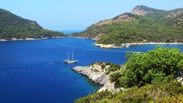 Panorama of coastline landscape of mediterranean sea turkey
