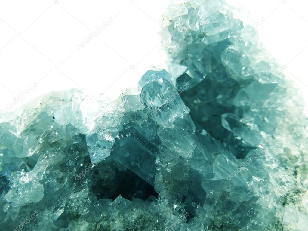 aquamarine geode geological crystals
