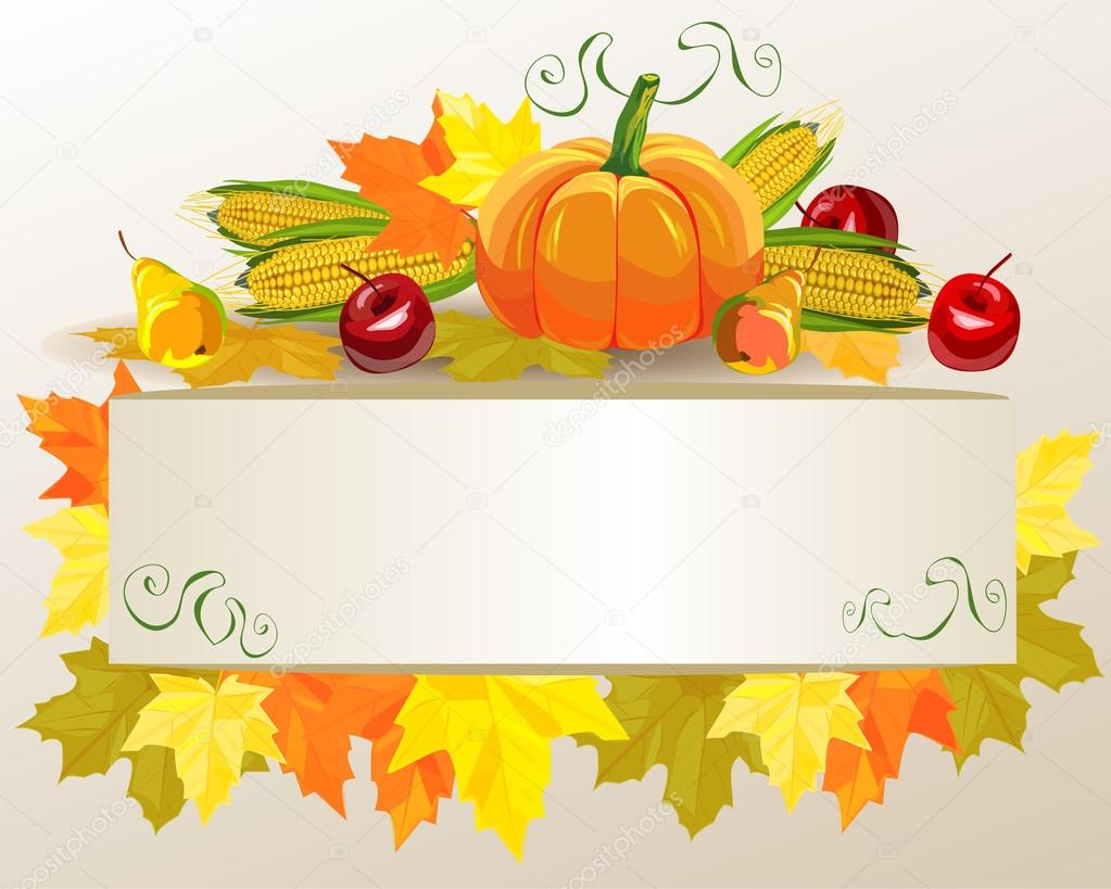 Thanksgiving celebration banner . Vector