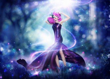 Beautiful fantasy fairy woman