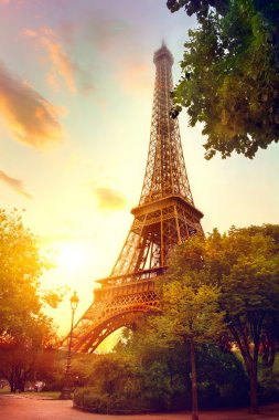 Eiffel Tower at sunrise, Paris