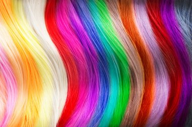 Hair colors palette.