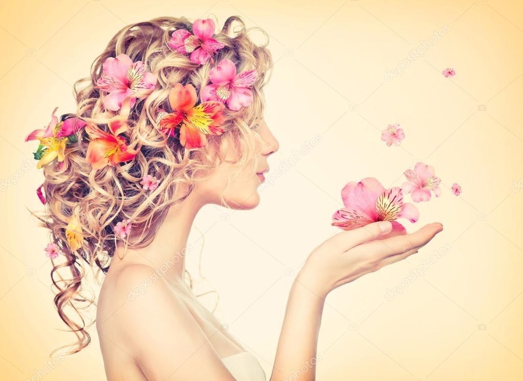 Девушка из цветов картинки