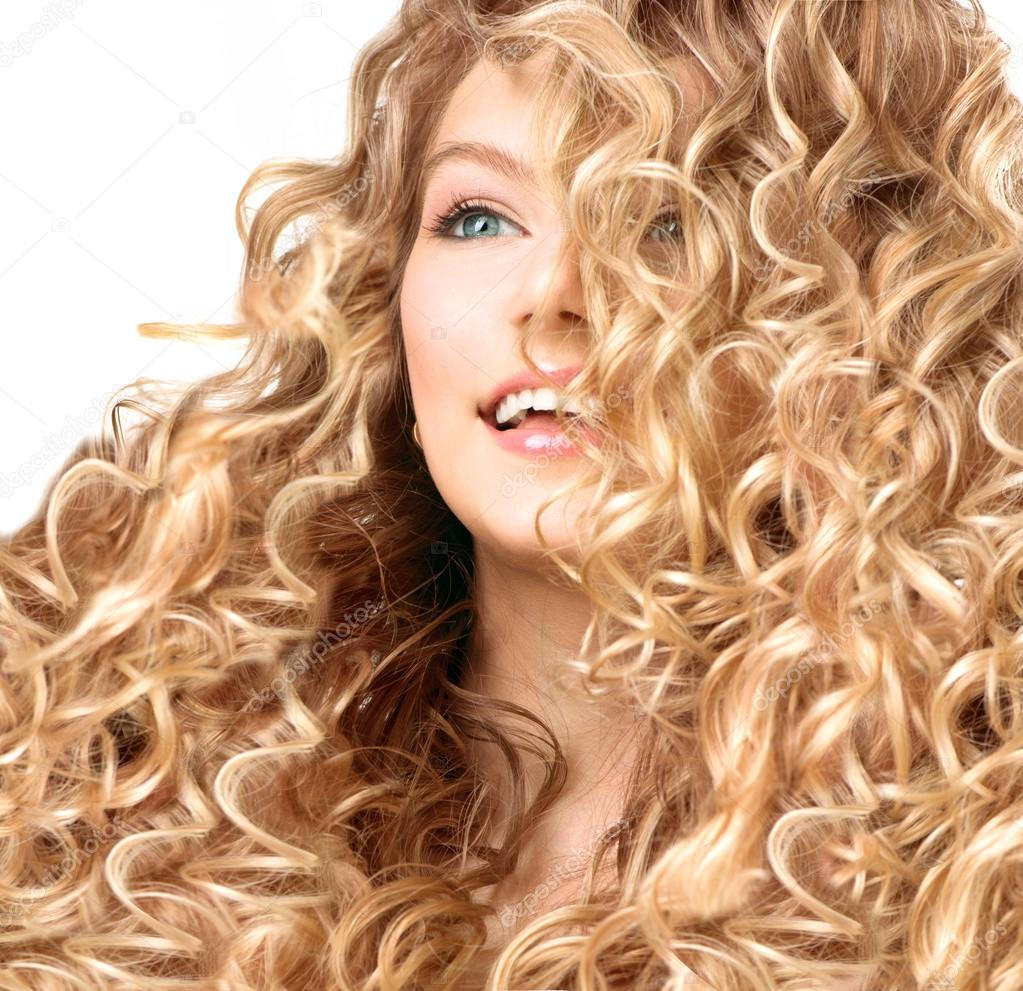 Pictures Blonde Permed Hair Girl With Blonde Permed Hair
