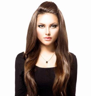 Model brunette girl