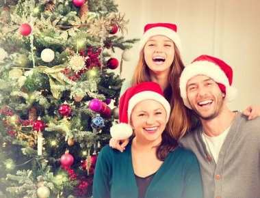 Christmas  Parents with Daughter