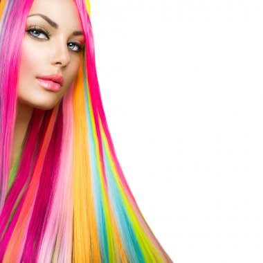 Model Girl with Dyed Hair