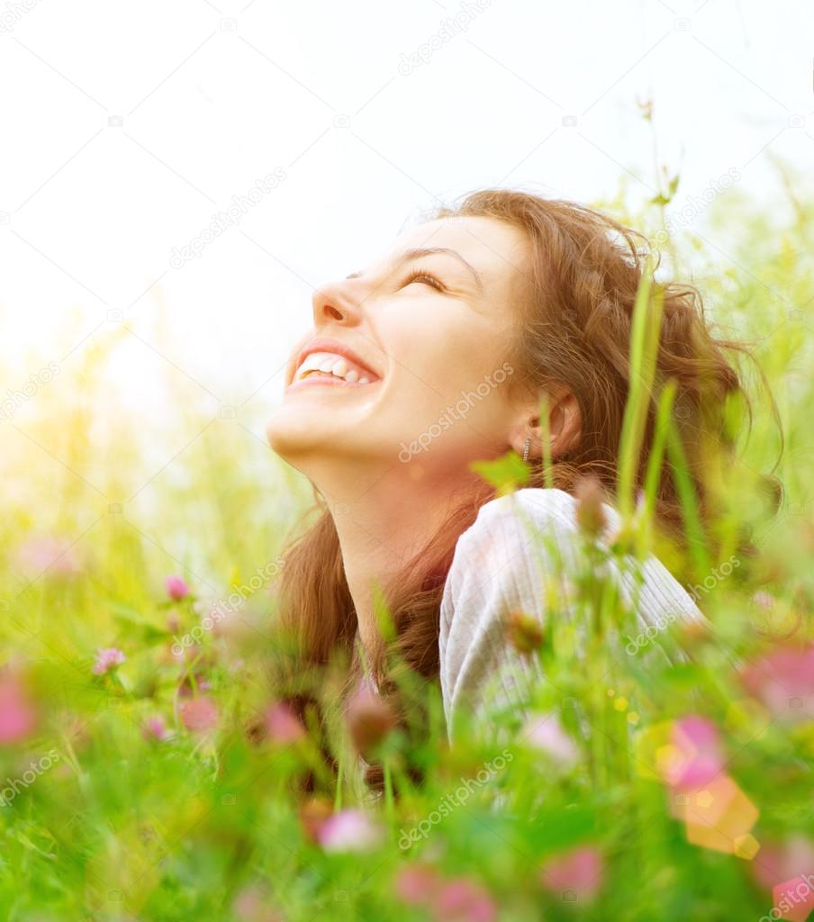 Woman Outdoors Enjoying Nature