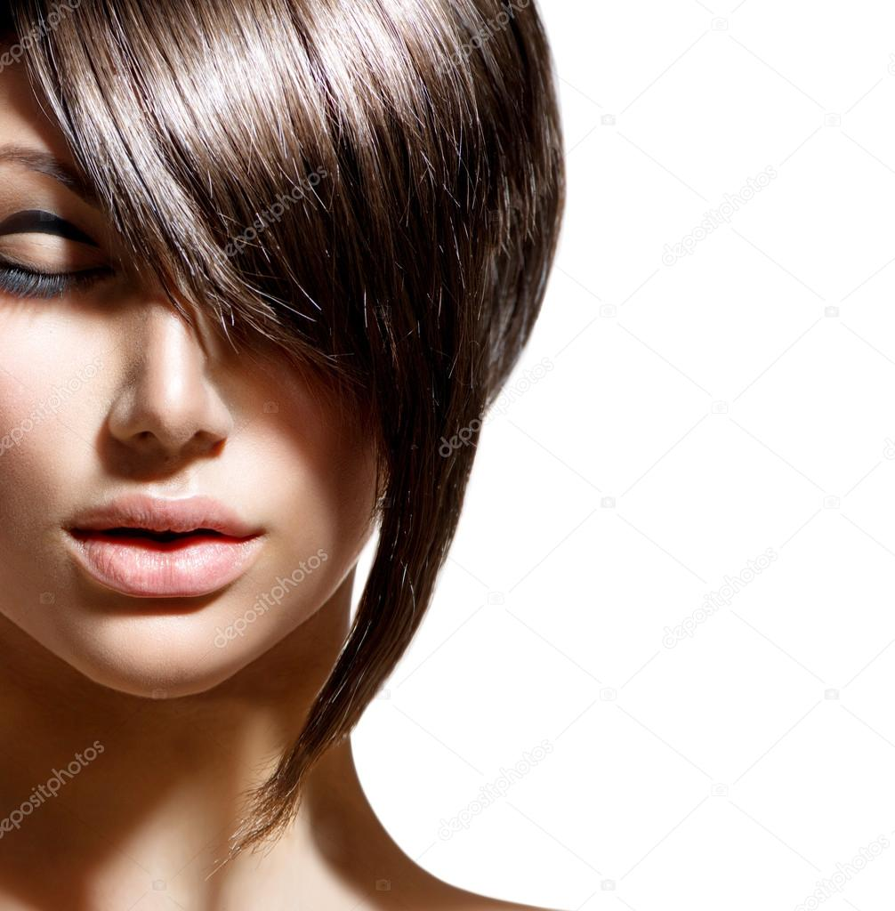 Woman with fashion hair style
