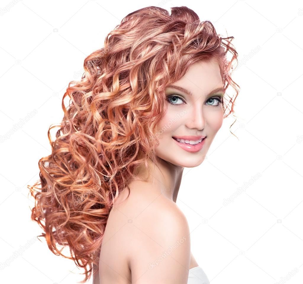 Woman With Red Curly Hair Stock Photo 169 Subbotina 61541249