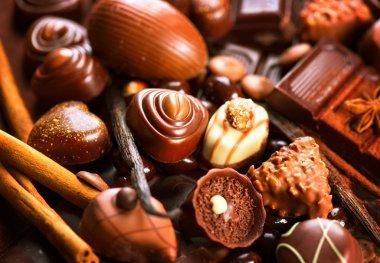 Praline chocolate sweets