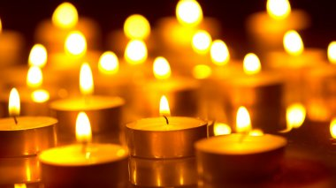 Candles light background.