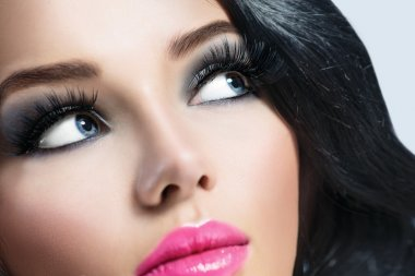 Brunette girl with  perfect makeup
