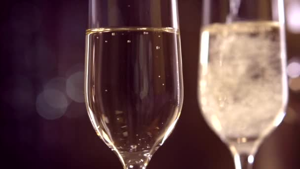 Flutes with sparkling champagne