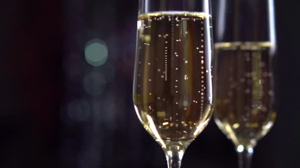 Two Flutes with Sparkling Wine.