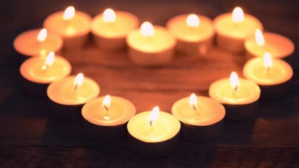 Burning Heart Shaped Candles