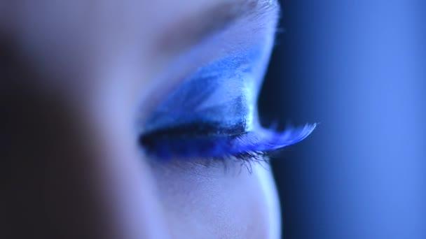 Krása ženy oční make-up