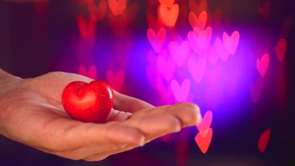 Valentin szív az ember keze