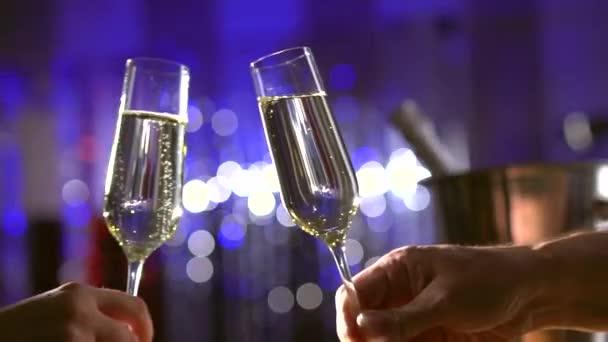 Pezsgő pezsgő szemüveg