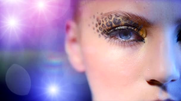 Girl with Holiday Leopard Makeup