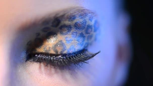 Szépség lány smink leopárd