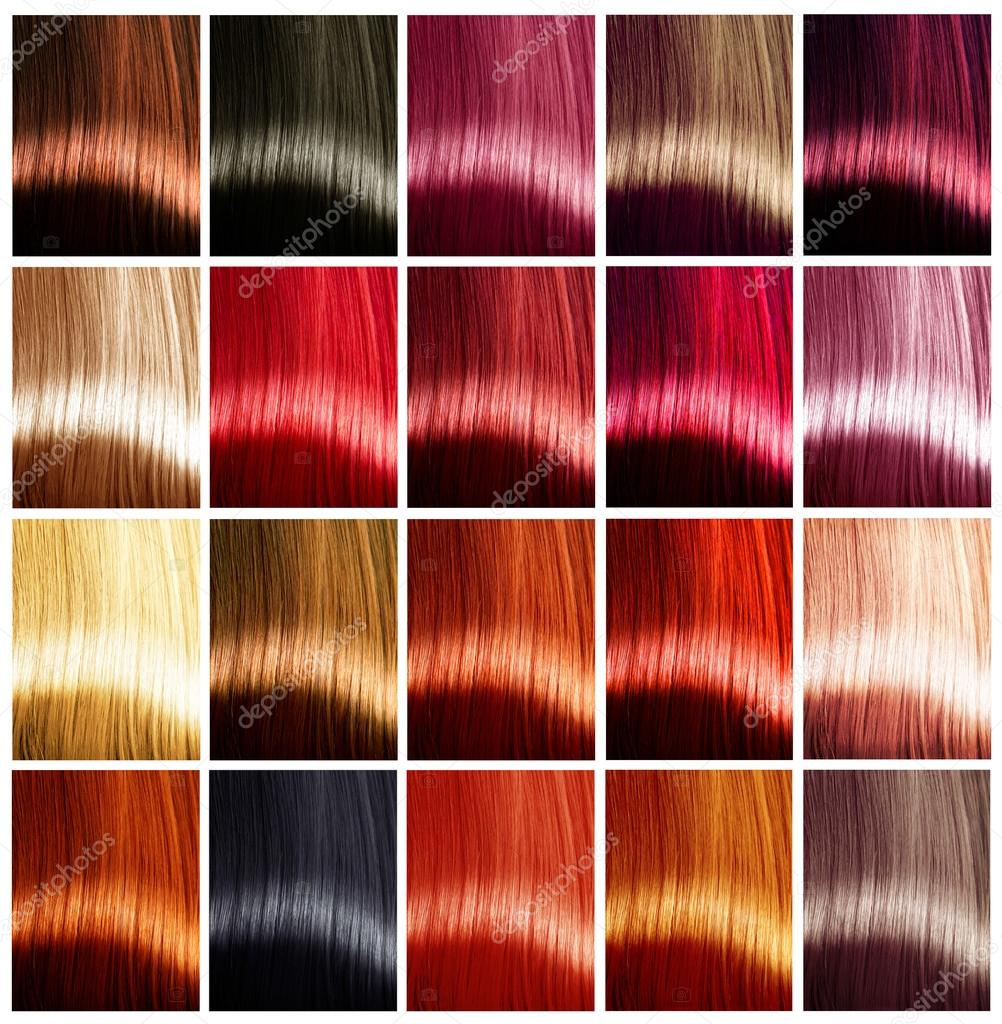 Pictures Red Highlights In Light Brown Hair Hair Colors Palette Stock Photo C Subbotina 80038496