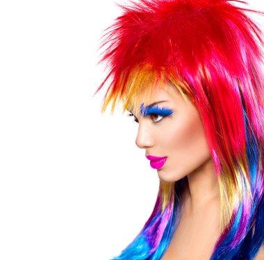 Beauty fashion punk model girl