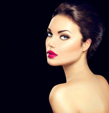 Beauty woman face closeup