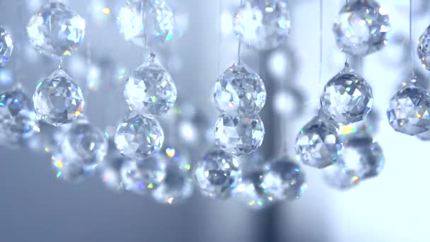 Hanging diamonds with blinking  reflection