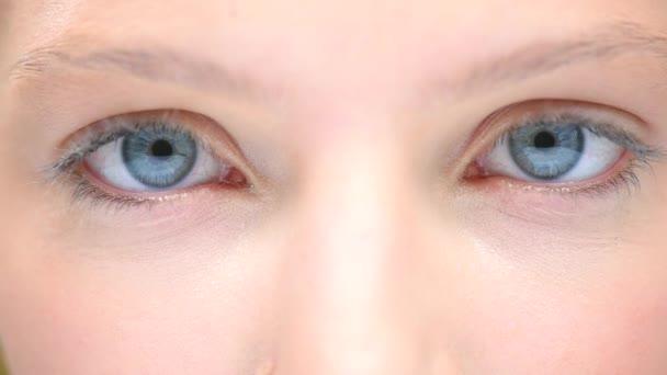 Blue Human Eyes.