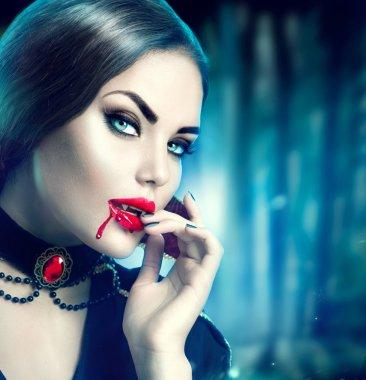 Beautiful halloween vampire woman