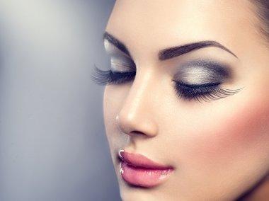 Beautiful fashion luxury makeup.