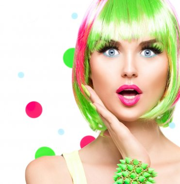 Surprised beauty fashion  girl