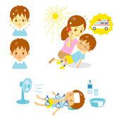 Úžeh sanitka první pomoc