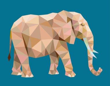 Elephant triangle low polygon