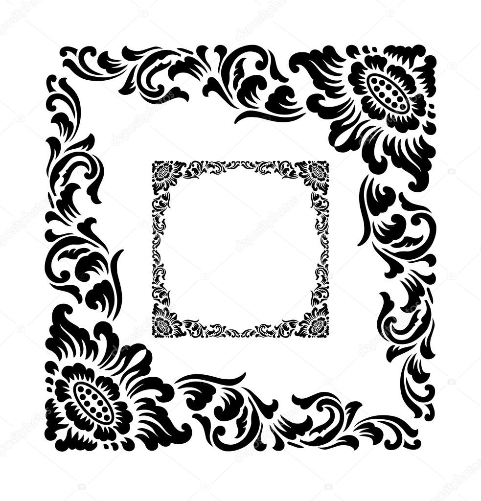Frame corner ornament decoration — Stock Vector © Cundrawan703 #69989123