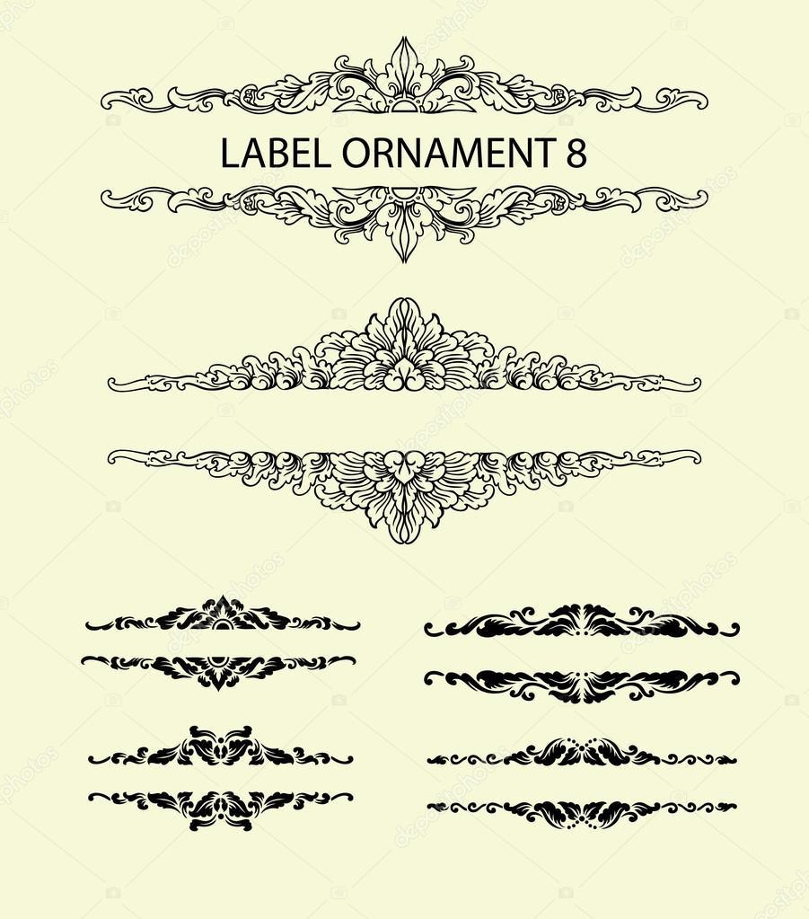 label ornament invitation decoration 8 stock vector cundrawan703
