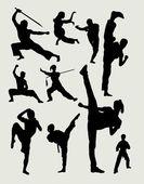 Fényképek Harcművészet férfi és női sport sziluettek