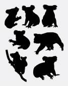 Fényképek Cute koala animal silhouettes