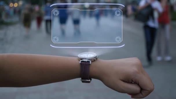 Női kéz hologram monopóliummal