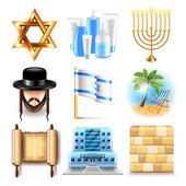 Izrael ikonok vektoros készlet