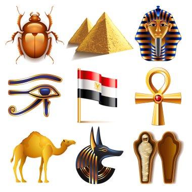 Egypt icons vector set