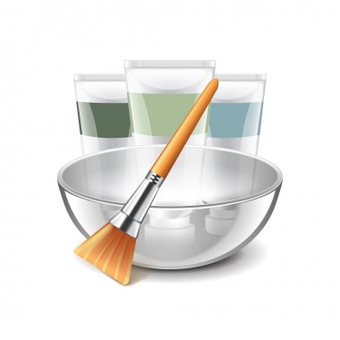 Face mask tools isolated on white vector