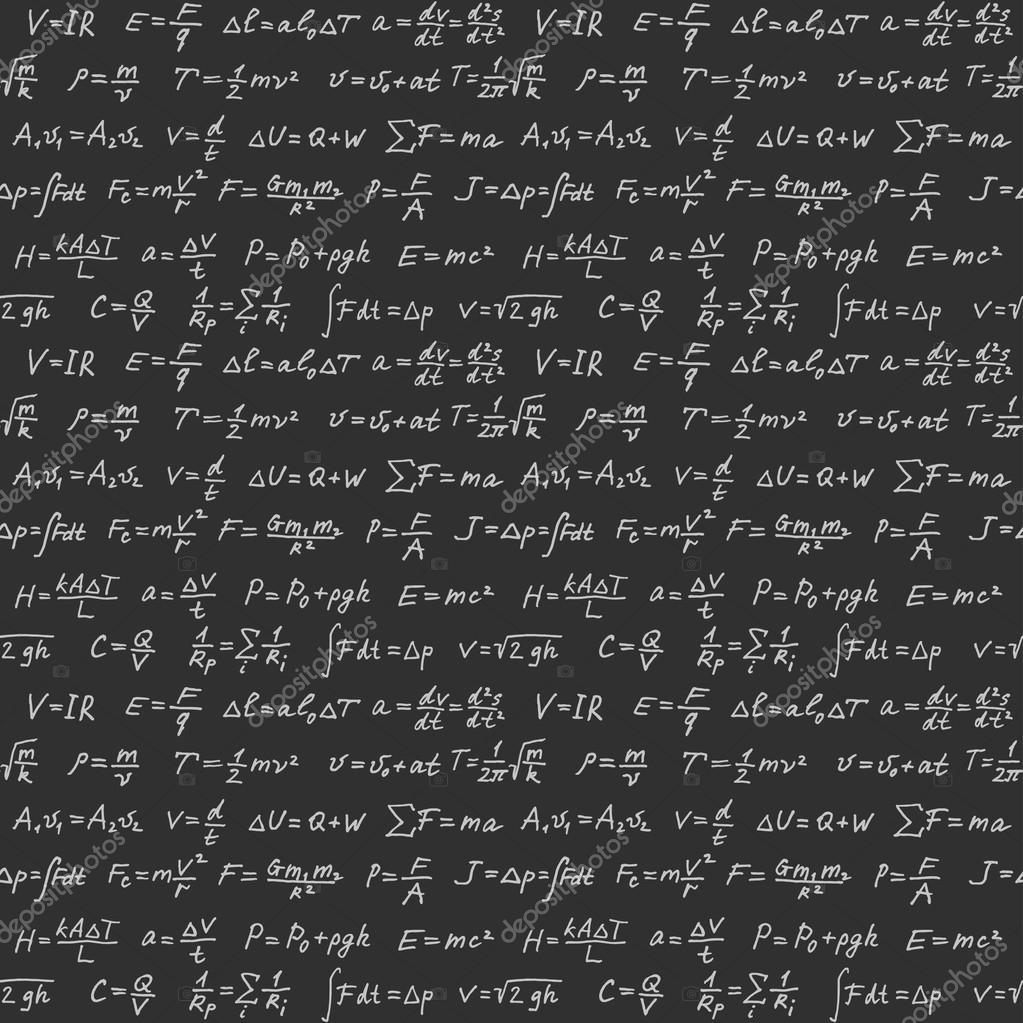 Extremamente Fondo de vector transparente de fórmulas de física — Vector de  OU62