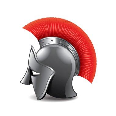 Roman helmet isolated on white vector