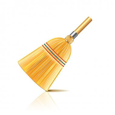 Broom isolated on white vector