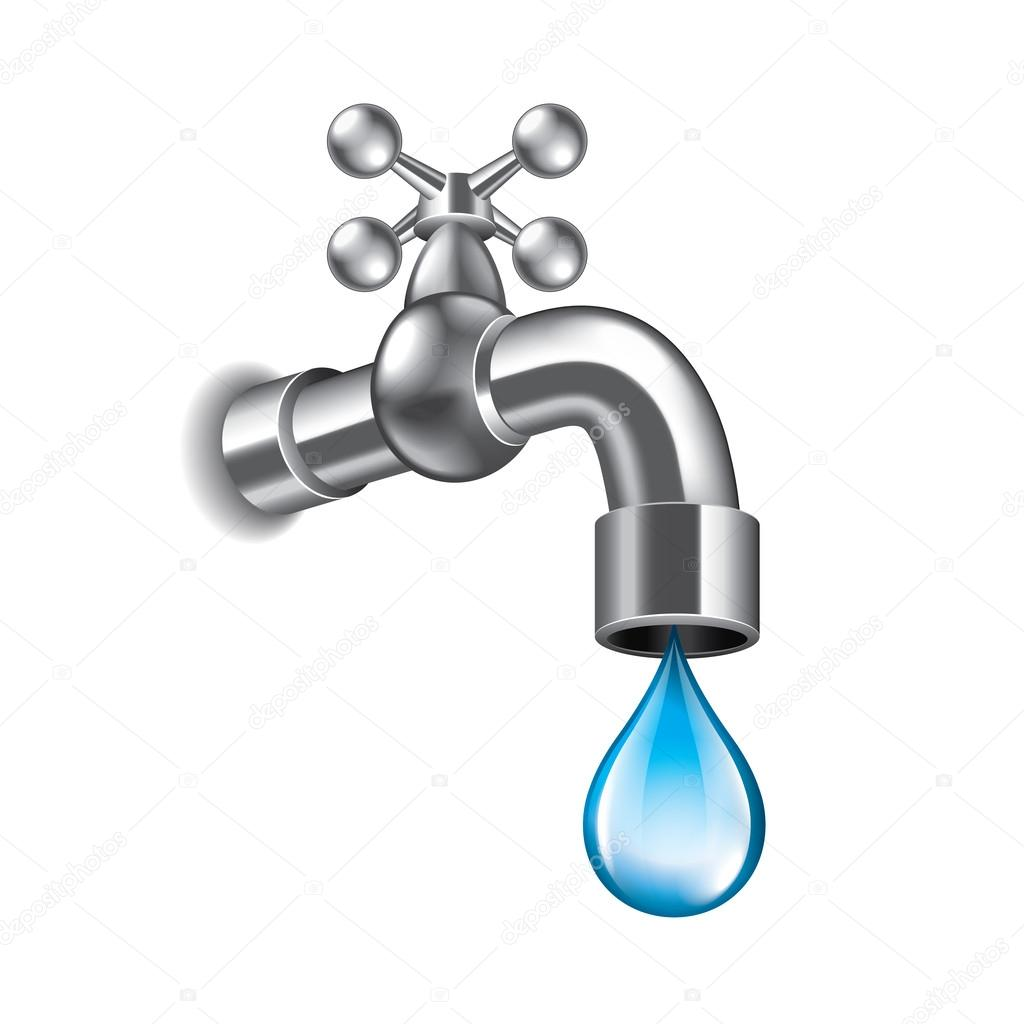 Water faucet isolated on white vector