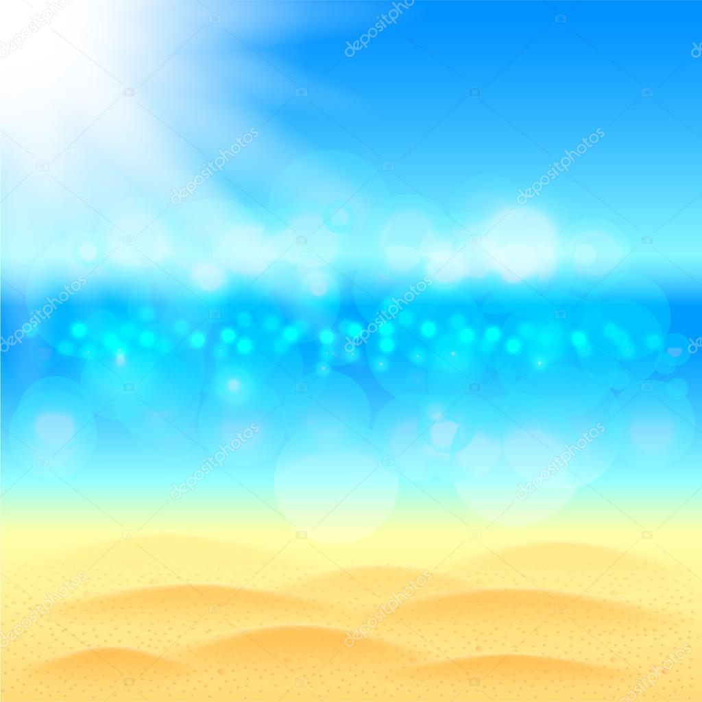 summer background with beach sea and sky vector stock vector