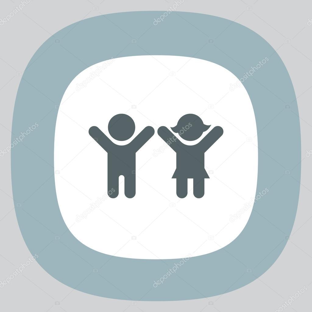 Boy And Girl Icon Stock Vector Quka 121166816